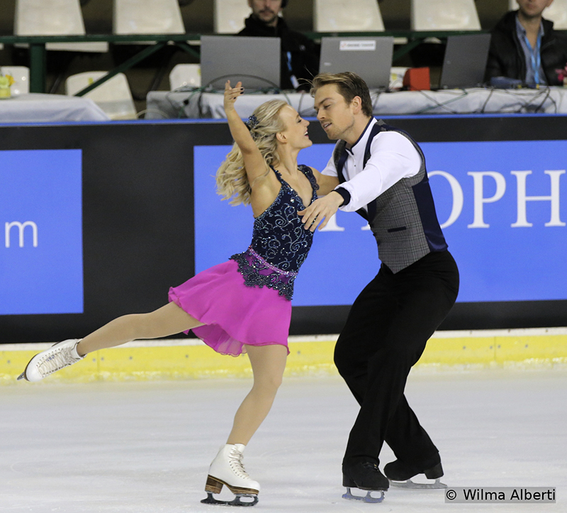 Fourth in Bordeaux, after the short dance, Britain's Penny Coomes and Nicholas Buckland