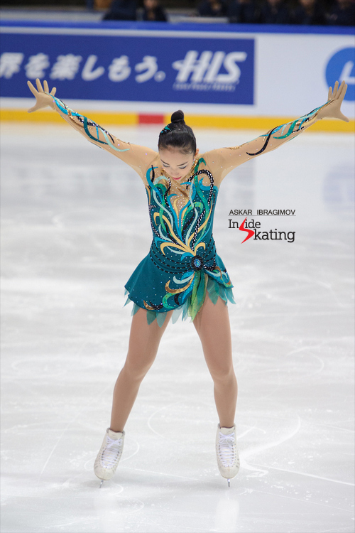 Japan's Rika Hongo took the new season by storm - here she is in Espoo, at 2015 Finlandia Trophy, skating her short program; Rika won the gold