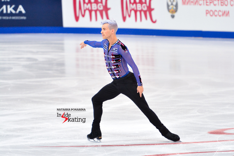 Adam, performing his Beatles free skate in Moscow, at this year's edition of Rostelecom Cup