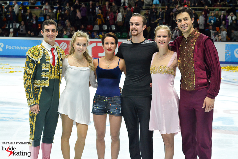 Gold medalists 2015 Rostelecom Cup (1)