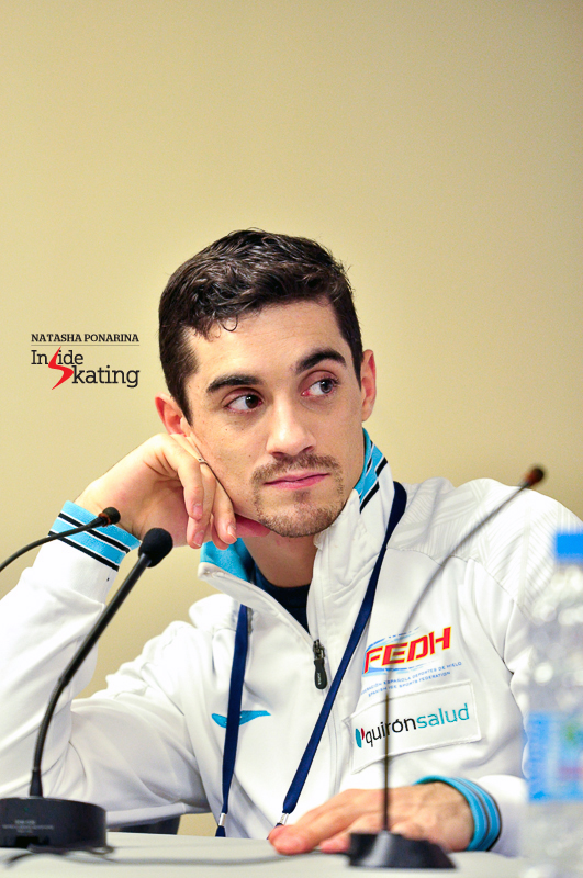 Javier Fernandez press conference after SP 2015 Rostelecom Cup (2)