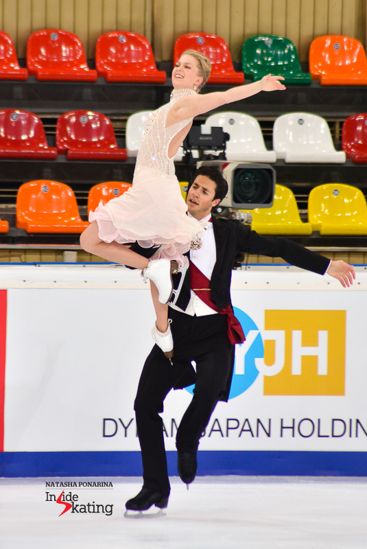 Kaitlyn Weaver Andrew Poje SD practice 2015 Rostelecom Cup (11)