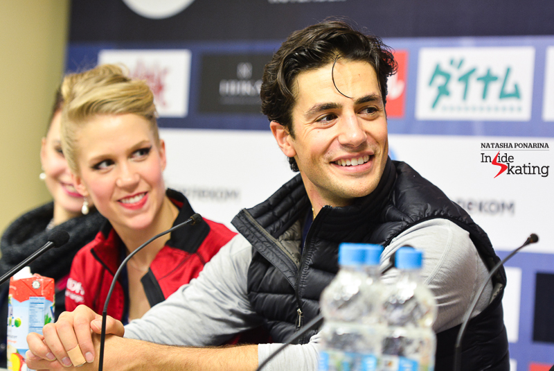Kaitlyn Weaver Andrew Poje SD press conference 2015 Rostelecom Cup (3)