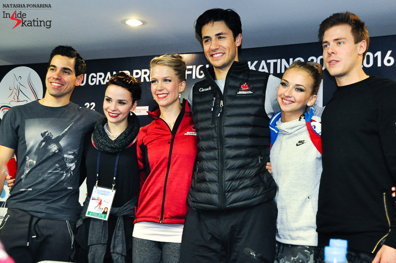 Kaitlyn Weaver Andrew Poje SD press conference 2015 Rostelecom Cup (5)