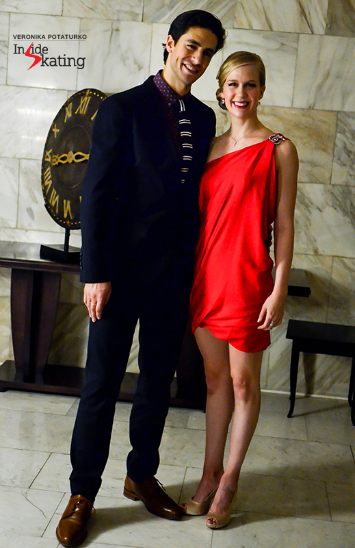 Kaitlyn and Andrew, all elegant and sophisticated at the skaters' banquet in Moscow