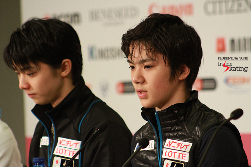 Alongside Shoma Uno, the bronze medalist at this year's edition of the Grand Prix Final