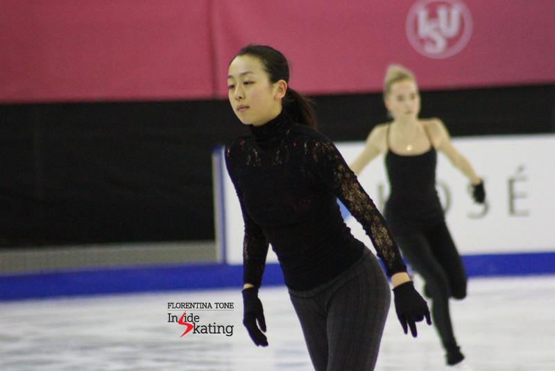 Mao Asada and Elena Radionova (in the background)