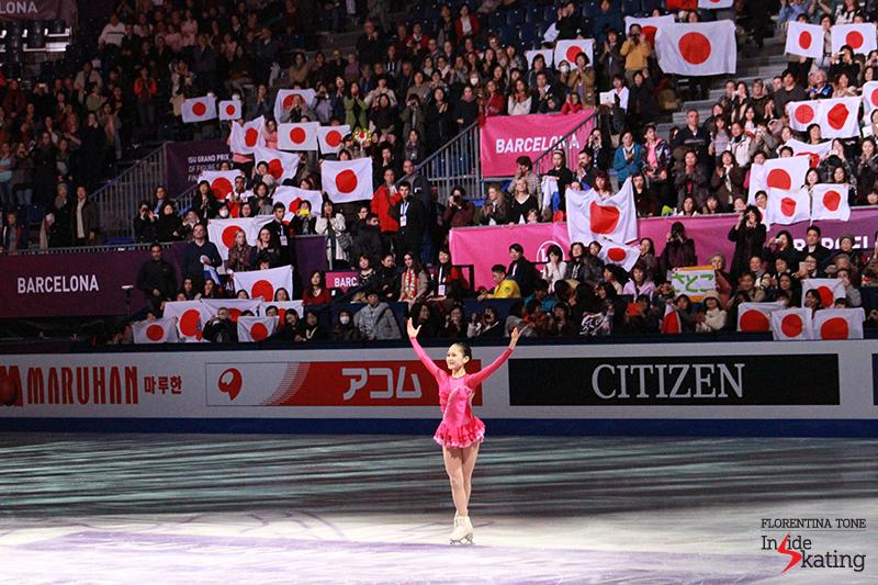 Satoko Miyahara took silver in the (senior) ladies' event at 2015 GPF