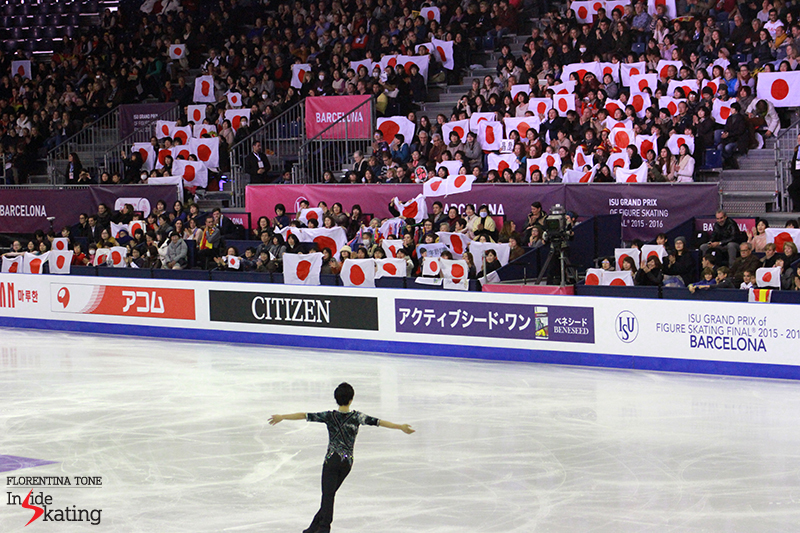 Japan's Shoma Uno taking the ice for his short program at 2015 GPF