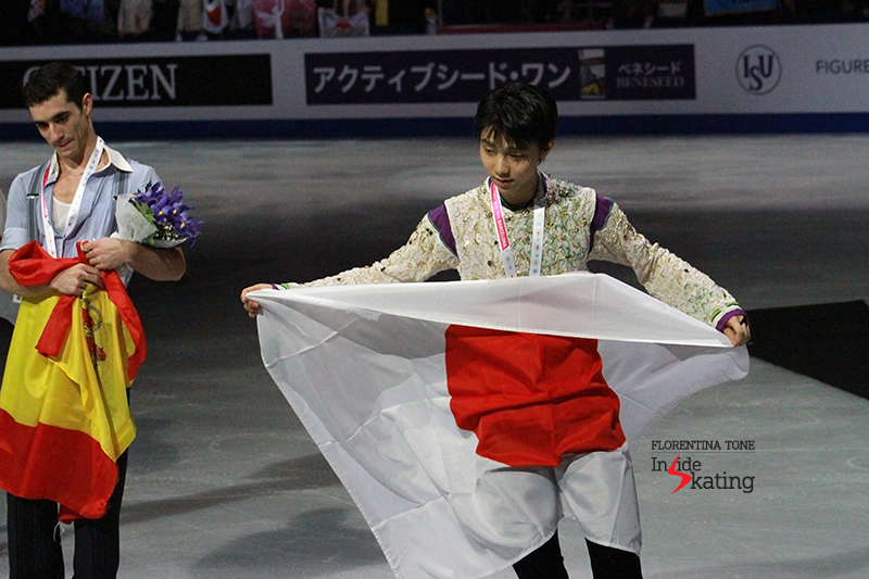 The medalists at 2015 GPF December 12 (3)