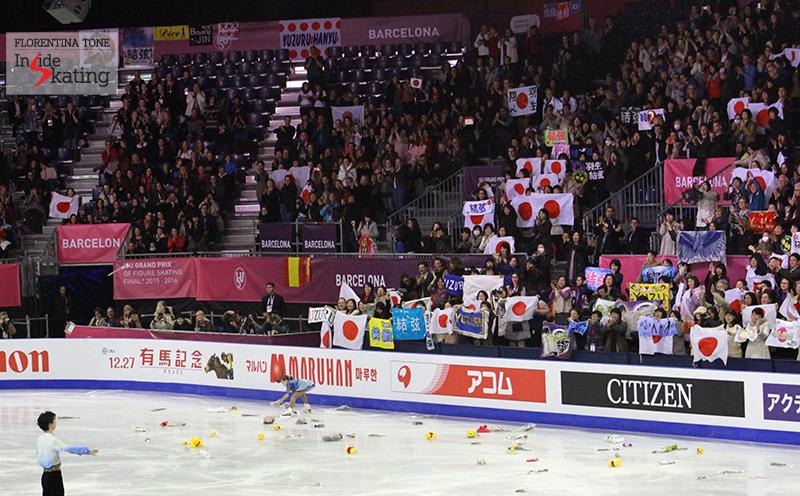 Pure joy, pure emotion after Yuzuru Hanyu's SP at 2015 GPF