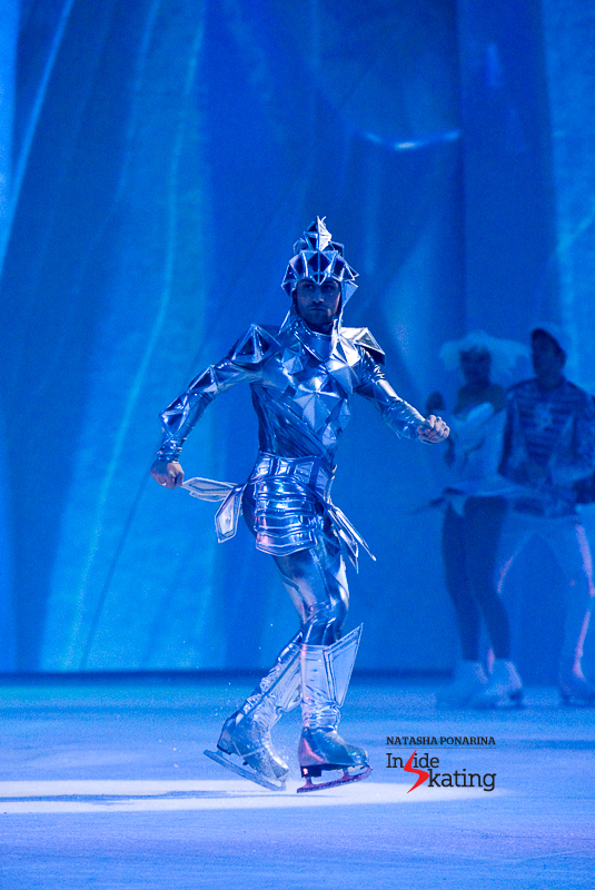 """A master of the footwork: Brian Joubert as the Ice Knight in """"Snow King 2"""" (Moscow)"""