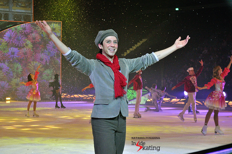 "Johnny Weir as Kai, in the ice show ""Snow King"", based on the fairy tale ""The Snow Queen"" by Hans Christian Andersen"