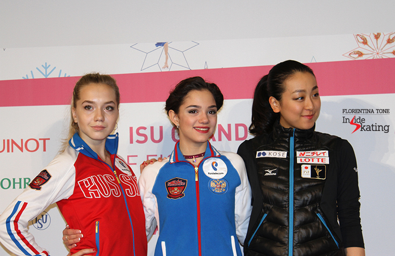 Ladies press conference after SP 2015 GPF (13)