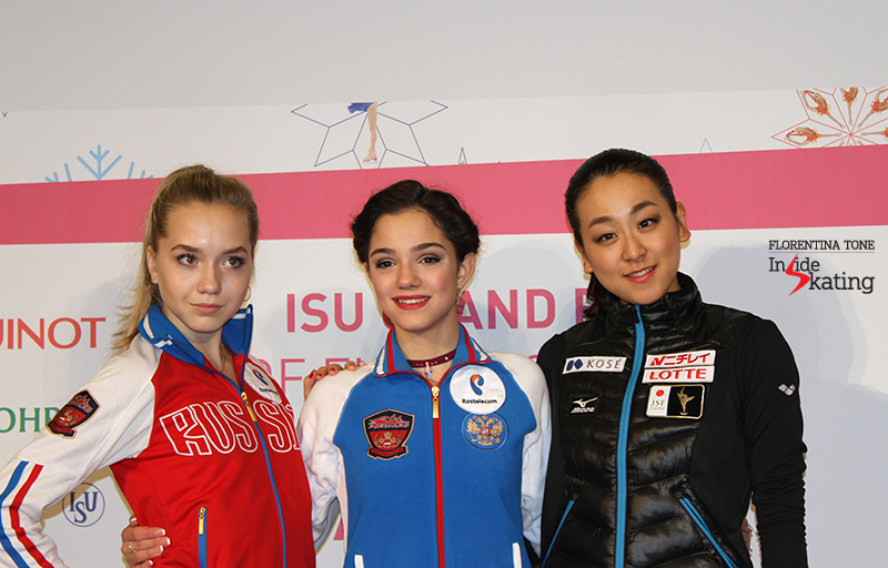 Ladies press conference after SP 2015 GPF (14)
