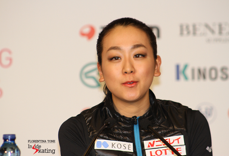 "Mao Asada during press conference: ""This is my comeback season and the Axel has been going quite well"""