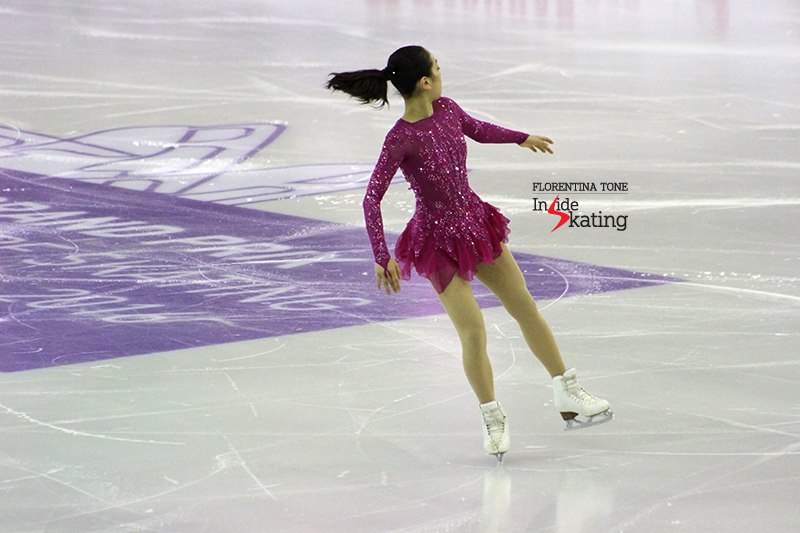 Ready to attempt a triple Axel during warm-up