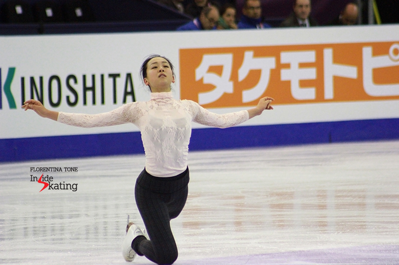 The final pose of her free skate