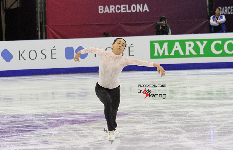 "All wings, all emotion: Mao Asada, practicing her free skate, to Puccini's ""Madame Butterfly"""