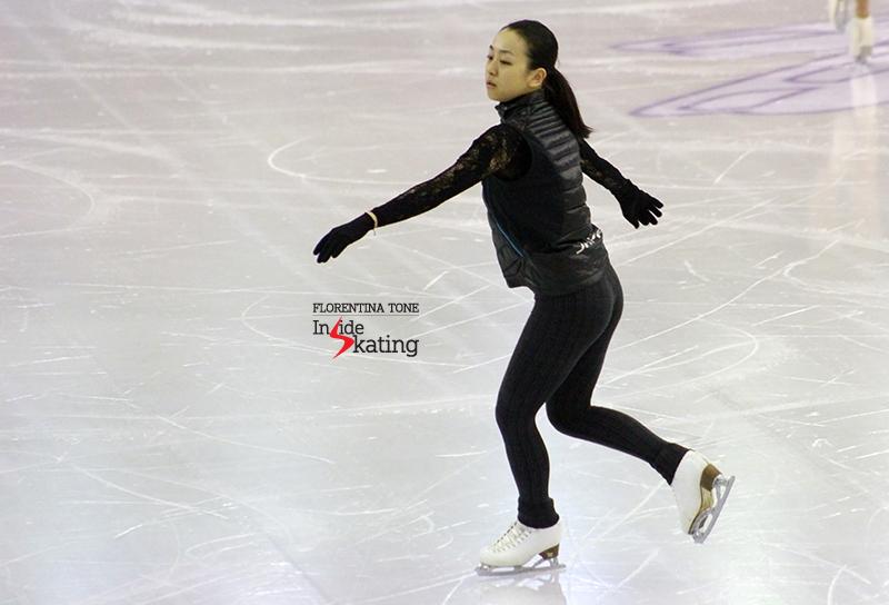 Mao Asada practice 2015 GPF December 9 (1)