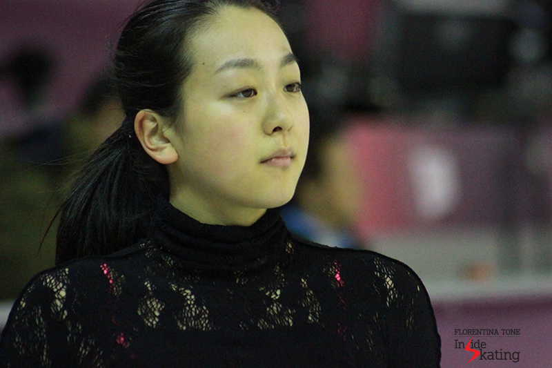 A serene Mao Asada during practice at 2015 Grand Prix Final in Barcelona
