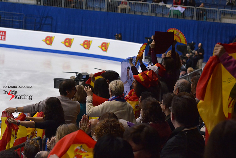 ...and he does have a lot of fans, Javier Fernández, and all of them are ready to give him a very warm welcome on to the ice