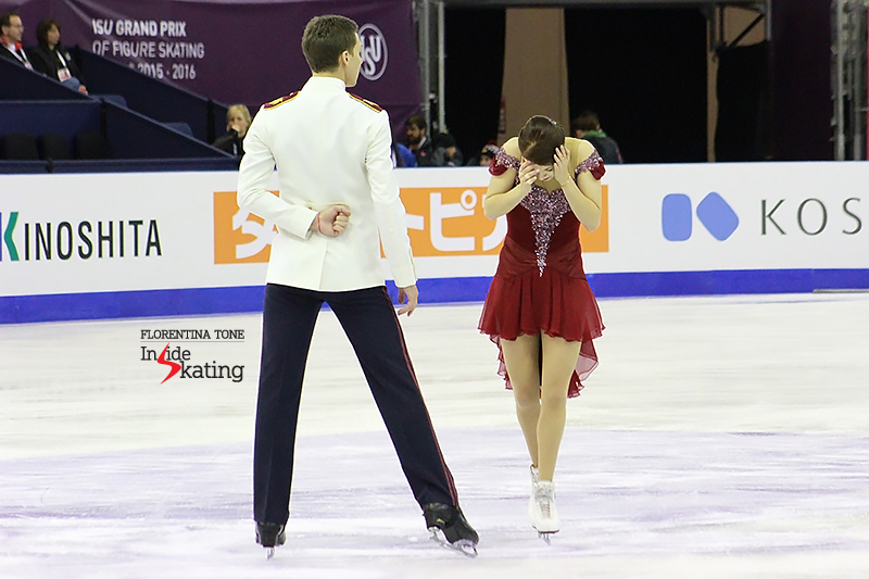 5 Ekaterina Bobrova and Dmitri Soloviev practice FD 2015 GPF (1)