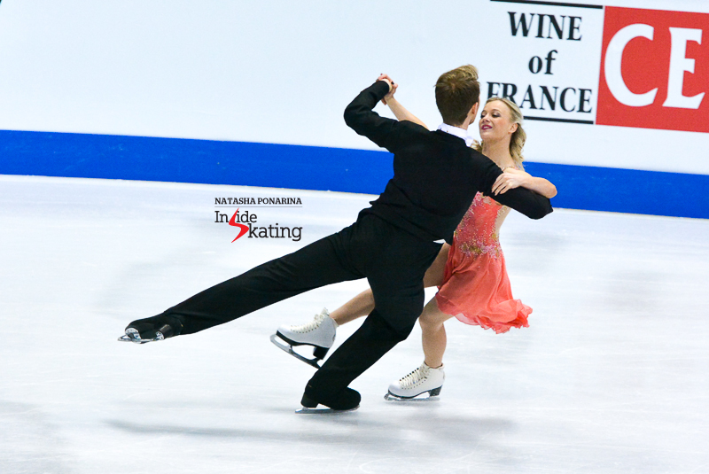 "A huge joy to have these two back at the Europeans – and competitions altogether – after the challenges of last season, involving coaching changes abrupt withdrawals from the biggest events  of 2015. Penny Coomes and Nicholas Buckland are, thus, back into the competitive arena – and, in Bratislava, they  skated to ""Die Fledermaus"" by Johann Strauss. At the end of this particular segment of the ice dancing event, Penny and Nick were 8th, with 64.26 points."