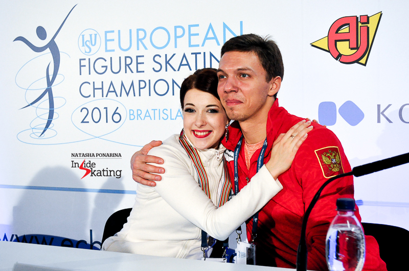 "Ekaterina Bobrova and Dmitri Soloviev skated their short dance with power and enthusiasm, and, at the end of the day, they were third. ""We really enjoyed performing today, especially after we missed the last two European Championships. Maybe Russian Nationals gave us more confidence in ourselves and some new energy. Actually, each competition gives us something new and Russian Nationals pushed us towards our goals"", Dmitri told the media."