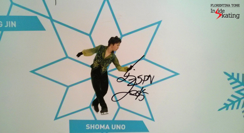 Shoma Uno's photo and autograph on The Wall of the Stars in Barcelona