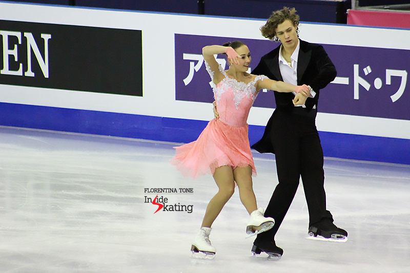 Alla Loboda and Pavel Drozd – and their free dance telling the story of the famous violinist Niccolò Paganini. The Russians finished the event in Barcelona on the second place – and Inside Skating talked to them on the last day of 2015 JGPF.