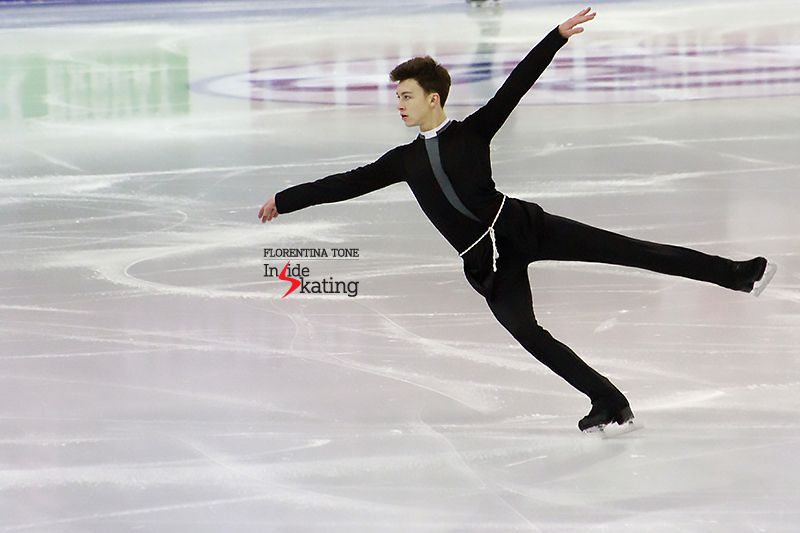 "Dmitri Aliev finished the overall competition in Barcelona on the second place: for his long program, he chose to skate to music from ""Notre-Dame de Paris"" by Riccardo Cocciante"