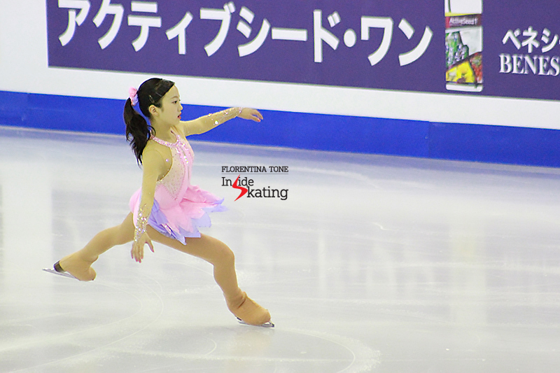 "Marin Honda, in her dress resembling a flower: the 14-year-old Japanese skated this season to the wonderful ""Violin Sonata no. 5"" by Ludwig van Beethoven, also known as the ""Frühlingssonate"" (Spring Sonata)"