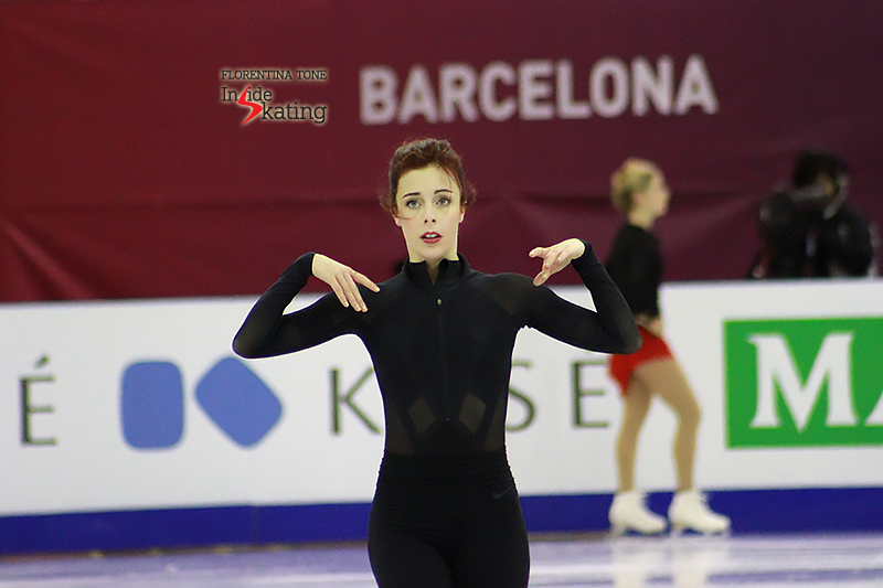 Ashley Wagner practice session at 2015 Grand Prix Final