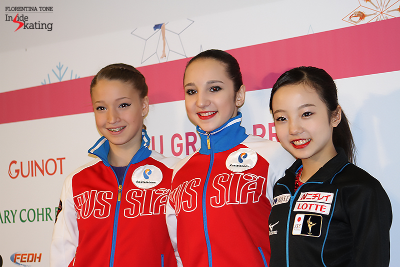 Ladies and gentlemen, these are your medalists: Maria, Polina, Marin