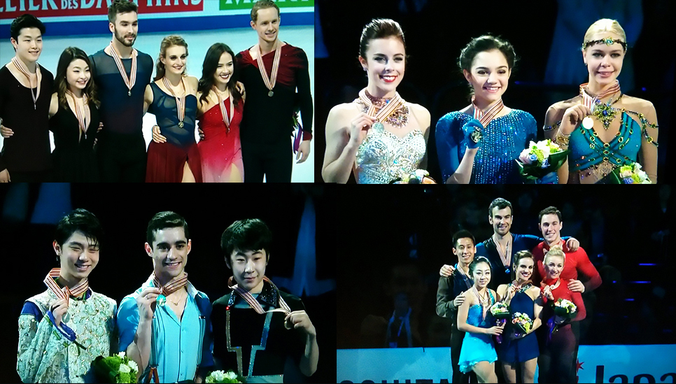 Photo-collage made of screenshots: the medalists of this year's edition of the World Championships