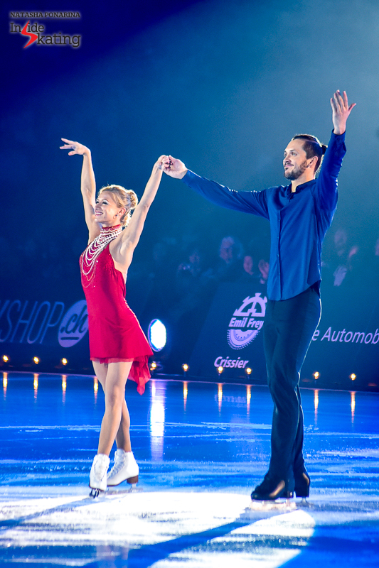 The embodiment of elegance: Tatiana Volosozhar and Maxim Trankov, Stéphane's dearest friends