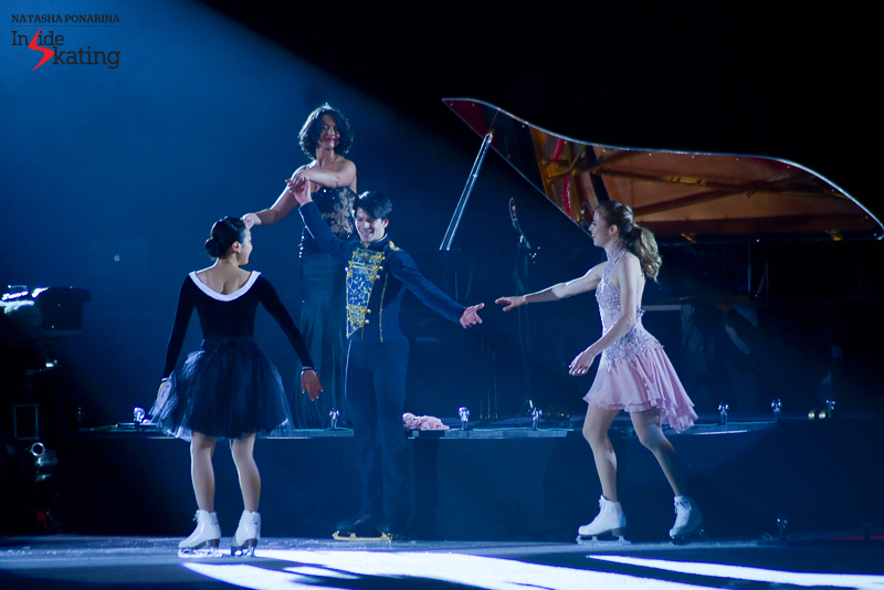 The four who created the magic: Mao Asada, Carolina Kostner, Stéphane Lambiel, Khatia Buniatishvili