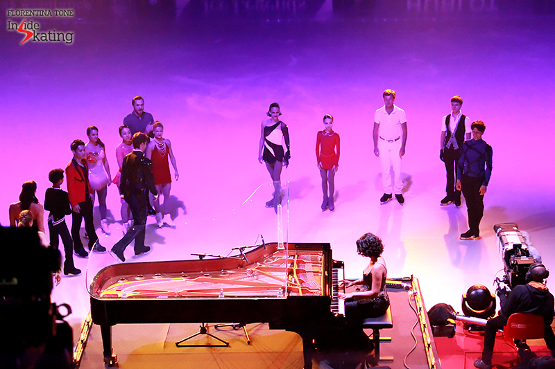 Khatia Buniatishvili and the cast of Ice Legends 2016 Ice Legends