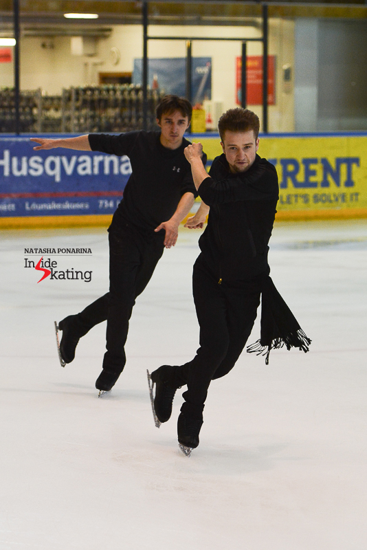 And then again, Misha Ge is working with Artur Dmitriev Jr. on the Russian's long program for the season to come