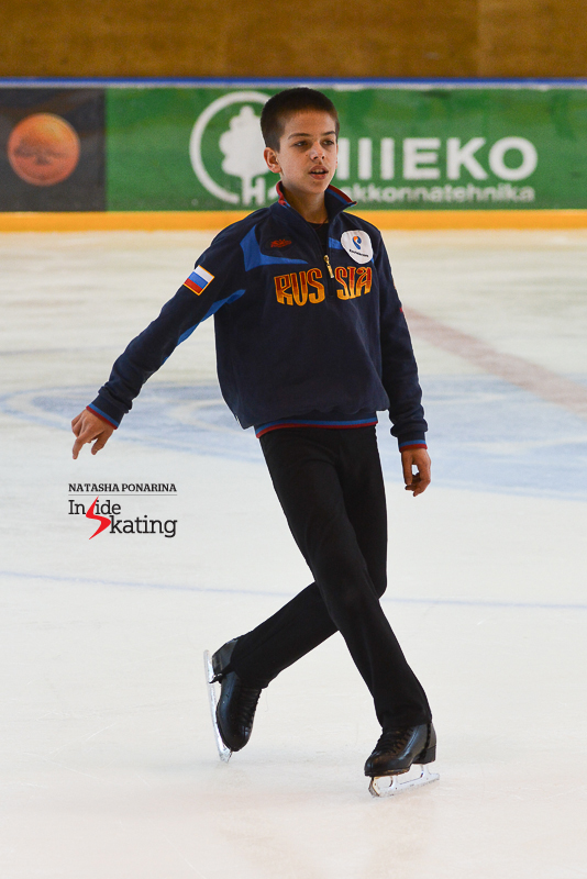 The 14-year-old Petr Gumennik also took advantage of Misha's knowledge and talent in Tartu – he benefited from those while working on the step sequences of his future programs