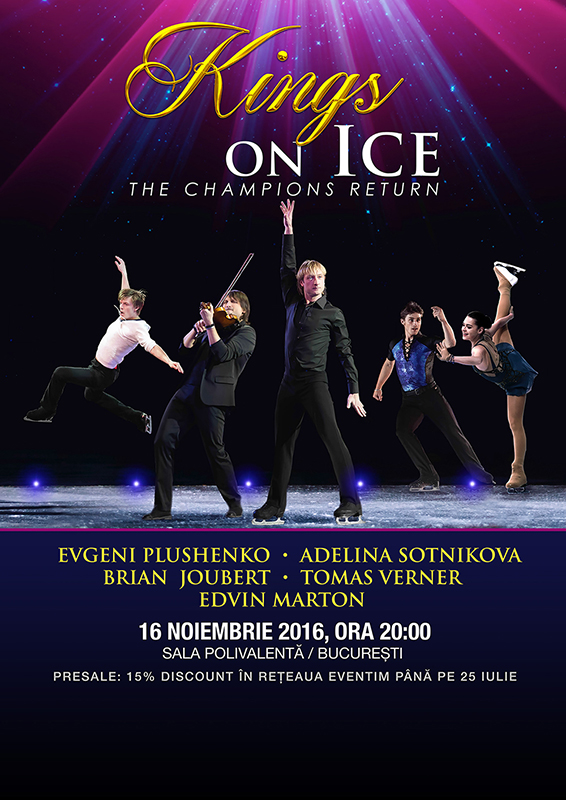 Poster Kings On Ice Bucharest 2016 presale