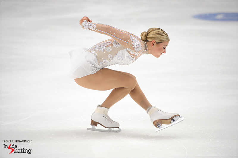 For the biggest part of her career, Ashley Cain was a single skater – in May 2016, she announced her partnership with Timothy LeDuc; here you have her during their free skate in Espoo.