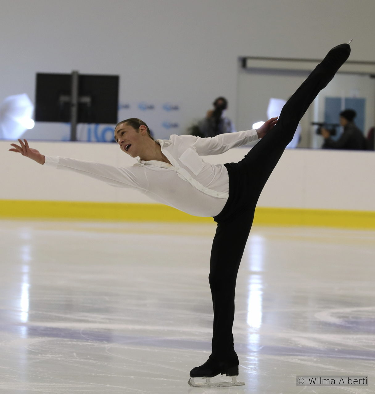 "This season, in his SP, Jason Brown is skating to Sam Smith's ""Writing's on the Wall"""