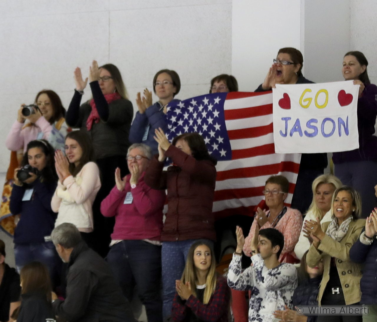 To say Jason's free skate was well received in Bergamo is an understatement