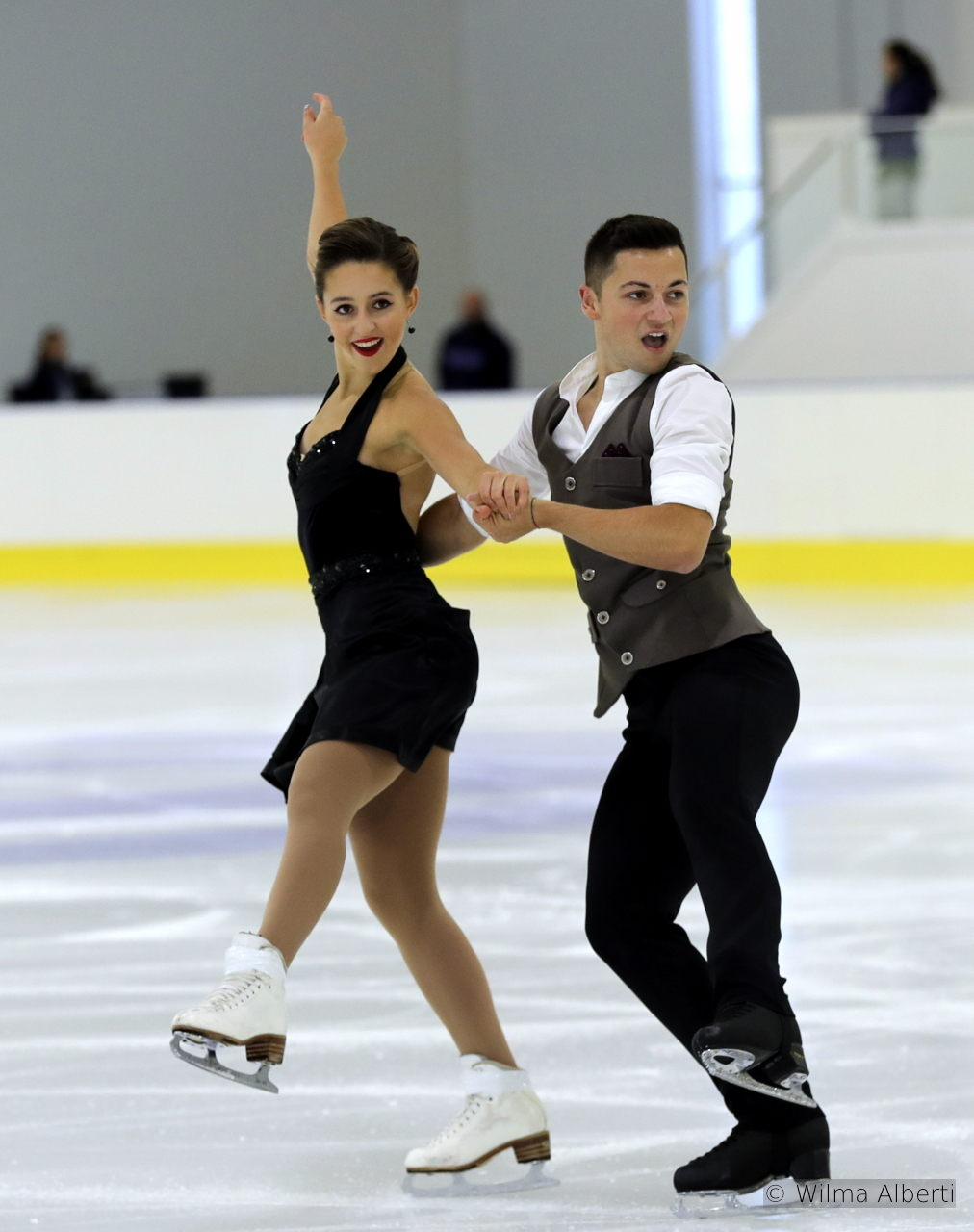 "Great Britain's Lilah Fear and Lewis Gibson are skating to Blues (""Save My Soul"") and Swing (""Diga, Diga, Do"") in their SD"