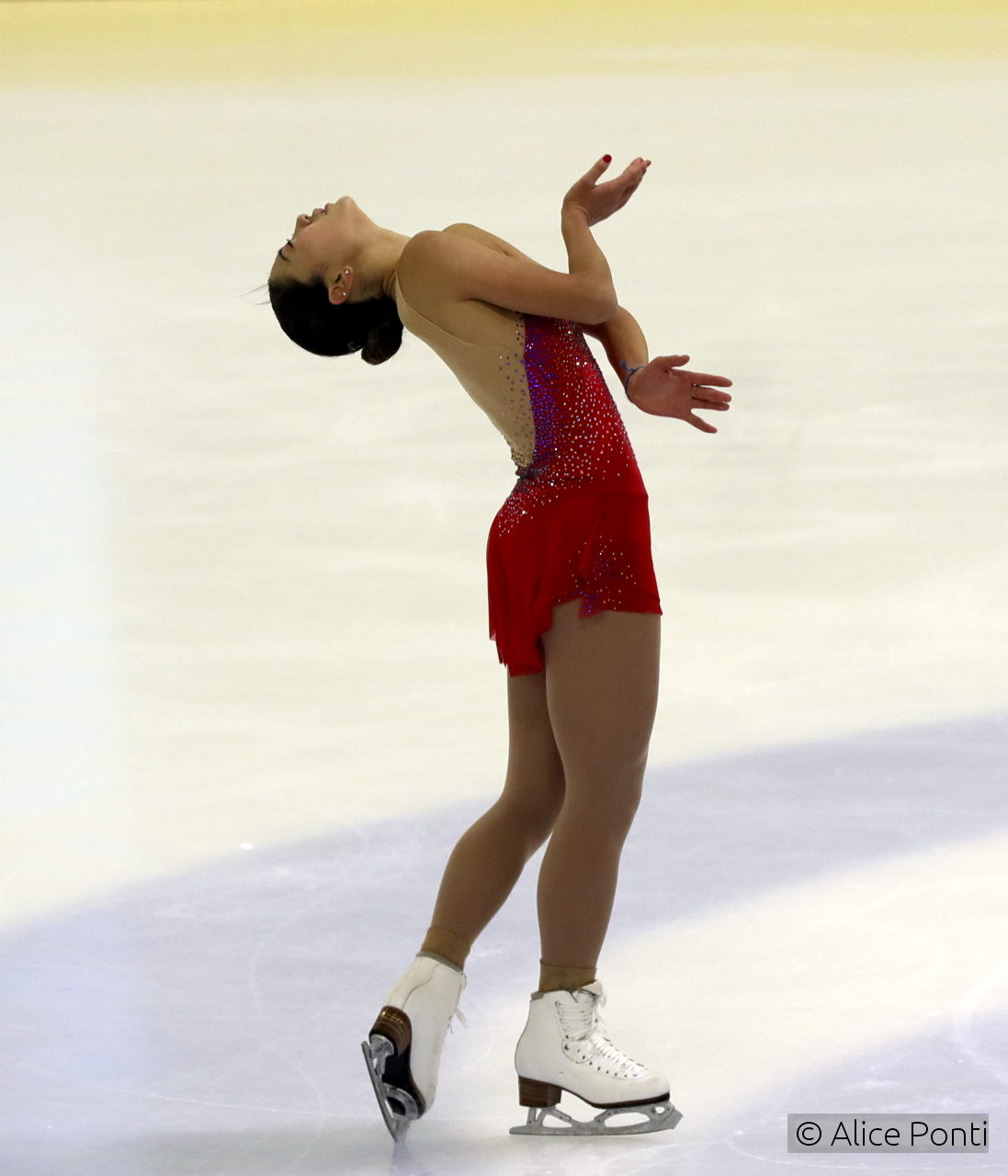 "...and it's equally great to witness Mirai skating to a touching version of a famous song, ""The Winner Takes It All"", as performed by Sarah Dawn Finer; David Wilson choreographed the free program, and it suits wonderfully Mirai's featherly skate."