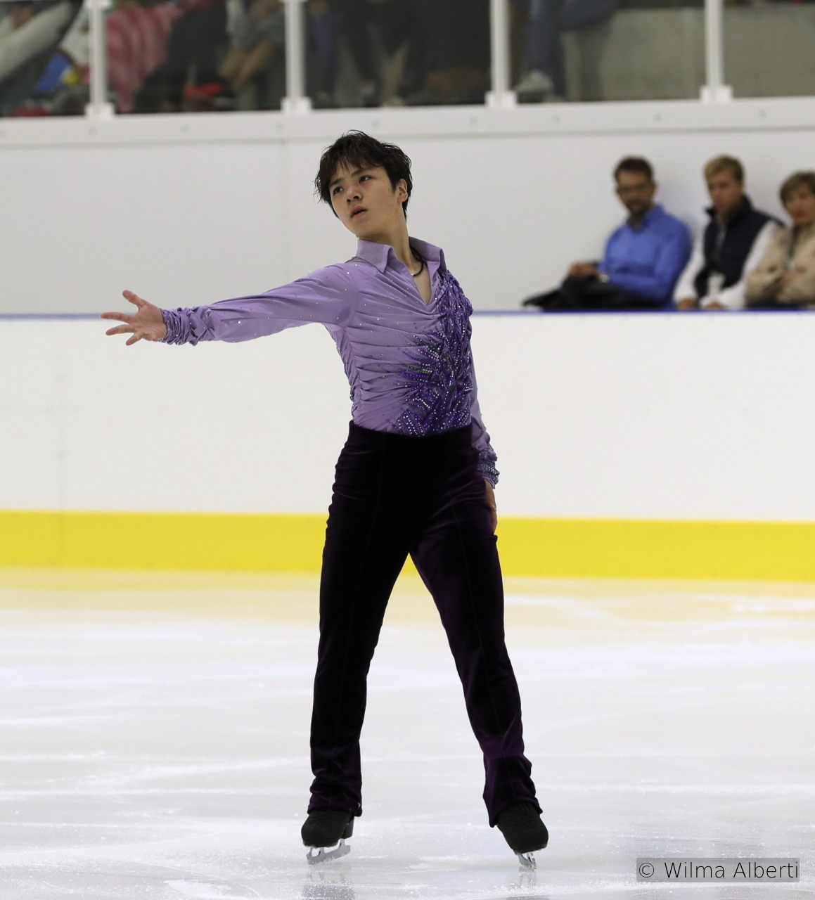 "Shoma Uno during his short program, skated to ""Fantasy for Violin and Orchestra"", from the movie ""Ladies in Lavender"""