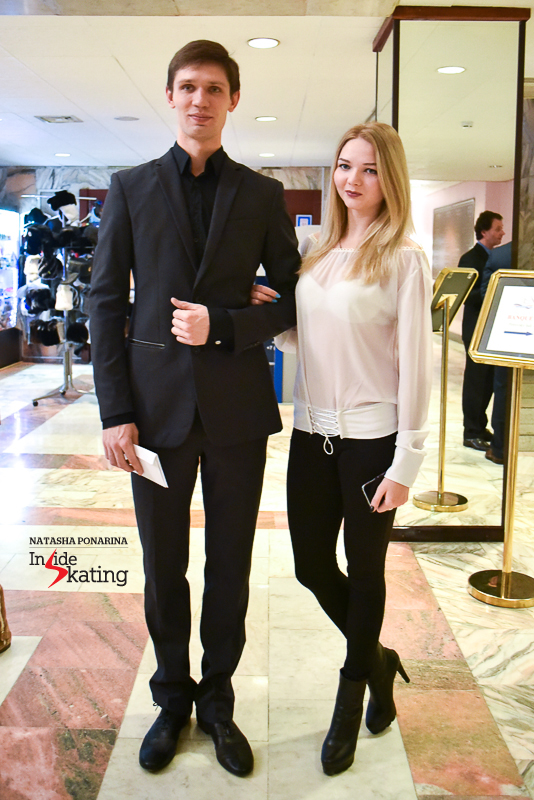 Belarus' ice dancers Viktoria Kovaliova and Yurii Bieliaiev