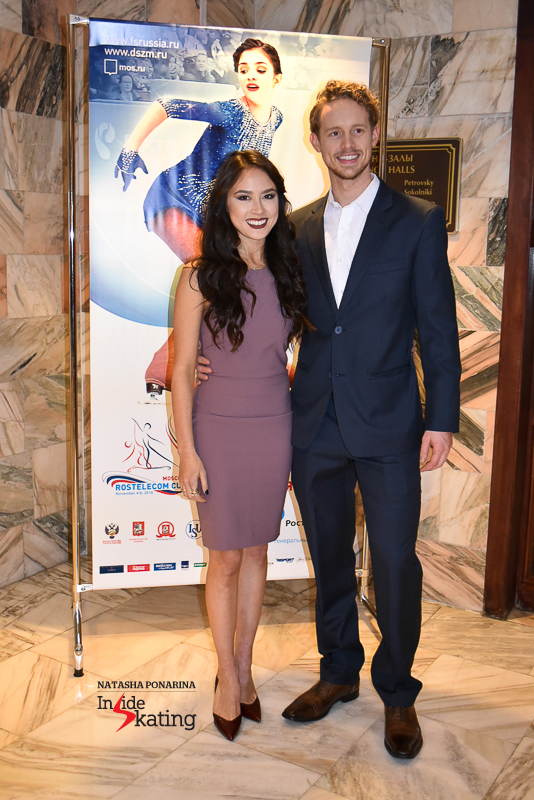 Madison Chock and Evan Bates, dressed up to the nines